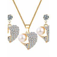 Komplet nakita Umjetno drago kamenje Osnovni dizajn Imitacija bisera Umjetno drago kamenje Legura Heart Shape Obala1 Ogrlica 1 par