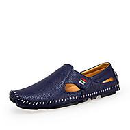 Для мужчин Мокасины и Свитер Мокасины Удобная обувь Микроволокно Кожа Весна Лето Для прогулок Для офиса Повседневный На плоской подошве