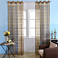 Ein Panel Window Treatment Landhaus Stil Neoklassisch Mediterran Rokoko Europisch Wohnzimmer Polyester Stoff Gardinen ShadesHaus