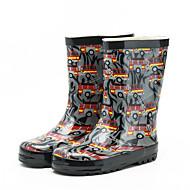 """בנים מגפיים נוחות גומי אביב קיץ שטח מגפי גשם עקב נמוך שחור ס""""מ 2.54 - ס""""מ 4.45"""
