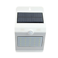 de controlo da luz solar de sensor de corpo humano lâmpada solar de parede 20 branco 4 branca quente conduziu luzes interruptor de toque