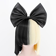 nye store bue og hårnet sort halv blonde sia styling party parykker