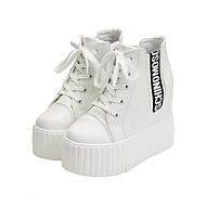 Dames Sneakers Comfortabel PU Lente Zomer Causaal Formeel Comfortabel Veters Hak Wit Zwart Plat