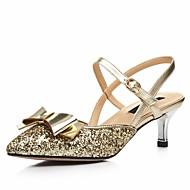 Na míru-Dámské-Taneční boty-Latina Jazz Moderní Swing-Kůže Leštěná kůže Třpytky-Nízký podpatek-Červená Stříbrná Zlatá