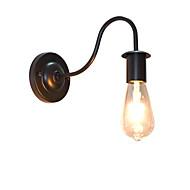 AC220V-240V 4W e27 ledet lysene buzz vegg jern vegglampe dumme svart lyssabel lampe på veggen Europa og USA