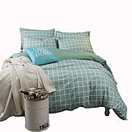 Yuxin®cotton einfaches Schnäppchen 4-teiliges Baumwoll-Twill-Aktiv-Druck-Kit Bettwäsche-Set