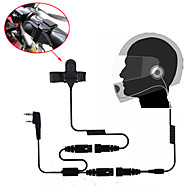 motorsykkel hele ansiktet hjelm headset øreplugg for toveis radio walkie talkie 365 baofeng Kenwood Wanhua