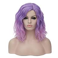 נשים קצר סגול שיער סינטטי ללא מכסה פאה טבעית מפלצת פאה ליל כל הקדושים פאה קרנבל פאה