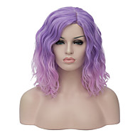 Žene Kratko Ljubičasta Sintentička kosa Capless Prirodna perika Parcela za zabavu Halloween paru Karnevalska perika