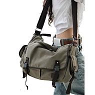 Damen Taschen Ganzjährig Leinwand Umhängetasche mit für Normal Schwarz Grau