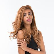 Erotogenic linho longo cabelo encaracolado cabelo humano peruca frente rendas