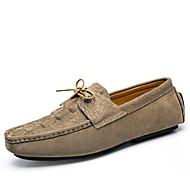 férfi hajó cipő tavaszi őszi mokaszin kényelem disznóbőr kültéri iroda&karrier party&Este alkalmi fonott szíj walking