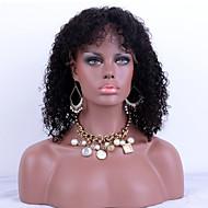 hot prodej krajky přední lidský vlas paruky Kinky kudrnatý 100% peruánský panenský vlasy adjustalbe krajka paruky černá Barva vlasů pro