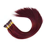 előre ragasztott i tip póthaj fúziós emberi haj kiterjesztések burgandy 530 1g / stand 18