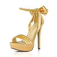 נשים סנדלים מועדון הקיץ נעליים משי מסיבת החתונה&שמלת ערב שרשרת bowknot