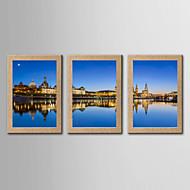 Valokuvaprintit Kuuluisa Maisema Classic Realismi,3 paneeli Pysty Panoramic Tulosta Art Wall Decor For Kodinsisustus