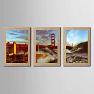 Valokuvaprintit Kuuluisa Maisema Moderni Classic,3 paneeli Pysty Panoramic Tulosta Art Wall Decor For Kodinsisustus