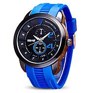 2017 New  Fashion Men's Sport Watch Wrist watch Quartz Silicone Band Casual Black Blue Red Orange Green Yellow Navy