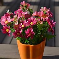 1 Větev Vlákno Sedmikrásky Květina na stůl Umělé květiny