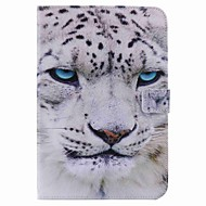 For Card Holder Wallet with Stand Auto Sleep/Wake Flip Pattern Case Full Body Case White leopard Hard PU Leather for Apple iPad Mini 4 Mini 3/2
