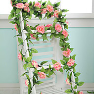 9 flowers 2 m longth artificial fake silk rose flower ivy vine hanging garland wedding decor - Silk Arrangements For Home Decor 2