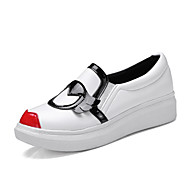 Feminino-Tênis-Sapatos clube-Plataforma-Branco Preto-Couro Ecológico-Escritório & Trabalho Social Festas & Noite