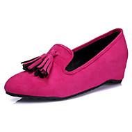 Черный Пурпурный Синий-Для женщин-Для прогулок Для офиса Повседневный-Флис Материал на заказ клиента-На плоской подошве-Удобная обувь-На