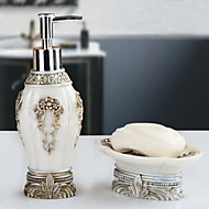 Bathroom Accessory Set with Lotion Bottle and Soap Wishes Resin /Barroco