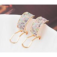 עגילים צמודים קריסטל עיצוב מיוחד מותאם אישית Euramerican זהב לבן קשת תכשיטים ל חתונה Party יום הולדת 1 זוג