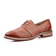 Damen-Outdoor-Büro Kleid Lässig-Leder-Blockabsatz Block Ferse-Bullock Schuhe-