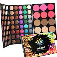 80 Color Eyeshadow + 15 Color Face Blush&Concealer Contour Corretivo Blush Iluminadores & Bronzeadores+Sombra para OlhosSecos Molhado