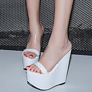 Femme-Habillé-Blanc Noir-Talon Compensé-club de Chaussures-Sandales-Polyuréthane