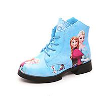 Jente-PU-Flat hæl-Komfort-Støvler-Fritid-Hvit Rød Blå Rosa