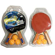 3スター Ping Pang/卓球ラケット Ping Pang/卓球ボール Ping Pang ラバー ショートハンドル にきび 2 ラケット 3 ピンポン球 屋内 性能 レジャースポーツ