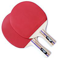 1 Stern Ping Pang/Tischtennis-Schläger Ping Pang Holz Langer Griff Kurzer Griff Pickel Drinnen Leistung Training Legere Sport-#