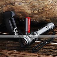 Rasvjeta LED svjetiljke Ručne svjetiljke LED 2000 Lumena 5 Način Cree XM-L T6 18650 AAA Podesivi fokus VodootpornoKampiranje /