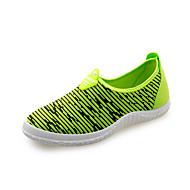 Damen-Sneaker-Outddor Büro Lässig-Kunstleder-Niedriger Absatz-Loch Schuhe-Grau Gelb Rot