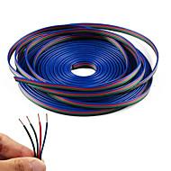 Linha de cabo de extensão rgb de 4 cores de 20m para faixa led rgb 5050 3528 cabo 4pin
