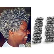 Tresses Twist Crochet Bouncy Curl Kanekalon Noir / Blond Fraise Noir / Medium Auburn Noir / Bourgogne Gris noir Noir Extensions de cheveux