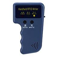 handheld 125KHz RFID cartão de identificação duplicador escritor / copiadora portátil com 3 porta-chaves id graváveis e 3 cartões de