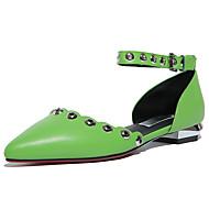 Sandály-Kůže-D´Orsay-Dámské-Zelená Růžová-Kancelář Šaty Party-Nízký podpatek