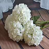 1 Une succursale Plastique Hortensias Fleur de Table Fleurs artificielles
