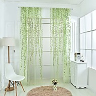 Et panel Window Treatment Rustikk Stue Polyester Materiale Gardiner Skygge Hjem Dekor For Vindu