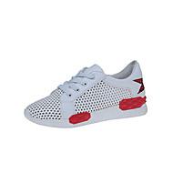 Sportssko-PU-Lysende såler Hole sko Komfort-Damer-Rød/Hvid Hvid og Grøn-Udendørs Fritid-Kilehæl