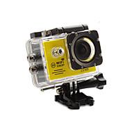 Action cam / Sport cam 12MP 1920 x 1080 Wi-fi Impermeabile Tutto in uno Regolabile USB G-Sensor Grandangolo 60fps 4X 2 32 GB Formato H.264