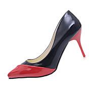 Femme-Décontracté-Noir/Rouge Noir/blanc Vert clair-Talon Aiguille-Confort-Chaussures à Talons-Polyuréthane