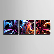 Stretched Canvas Print Art Abstract Fantasy Flower Set of 3