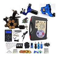 Complete Tattoo Kit 3  Machines Hurrican Dual Digital LED Power Supply  Liner & Shader