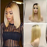 черный с блондинкой прямым бобом париком ручного синтетического парика фронт боб парик натурального ломбером тепло волос стойкого