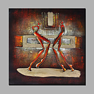 Hand-Painted Abstract Athletes Modern One Panel Canvas Oil Painting For Home Decoration
